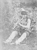 view Man in Native Dress Playng Flute n.d digital asset number 1
