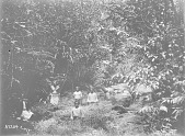 view [Five men next to stream, Fiji Islands] 1900 digital asset number 1