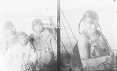 view [Two images; right: one unidentified Eskimo woman, left: three unidentified Eskimo women] digital asset number 1