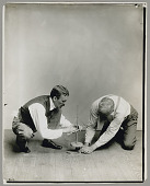 view Dr Walter Hough, demonstrating the use of an Iroquois pump drill before 1935 digital asset number 1