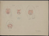 view Tewa drawings digital asset: Cocopa face and land markings