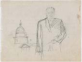 view Preparatory Study for Portrait of Lyndon B. Johnson digital asset number 1