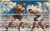 view Postcard: Jack Dempsey Knocks Out Jess Willard, July 4, 1919, and Becomes Champion of the World digital asset number 1