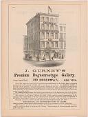 view J. Gurney's Premium Daguerreotype Gallery, 349 Broadway, New York digital asset number 1