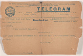 view Telegram to L.C. Handy from William M. Riley digital asset number 1