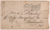 view Envelope addressed to L.C. Handy from William M. Riley digital asset number 1