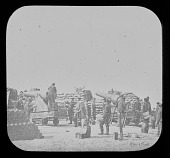 view Pictures of the War, 200 Pounder Breaching Battery Against Sumter, Battery Meade digital asset number 1