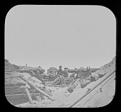 view Pictures of the War, Two 50 Pounders, Whitworth Naval Breaching Battery Against Fort Sumter digital asset number 1