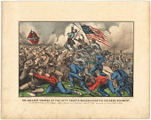 view The Gallant Charge of the Fifty-Fourth Massachusetts (Colored) Regiment digital asset number 1