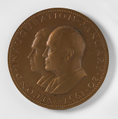 view Dwight D. Eisenhower and Richard M. Nixon, Second Inaugural Medal digital asset number 1