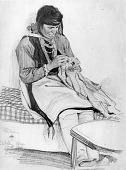 view Isleta Woman Sewing digital asset number 1