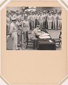view Admiral Nimitz signing the Instruments of Surrender aboard the USS Missouri digital asset number 1
