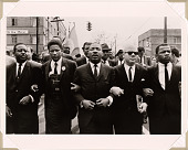 view Martin Luther King Marching for Voting Rights with John Lewis, Reverend Jesse Douglas, James Forman and Ralph Abernathy, Selma, 1965 digital asset number 1