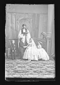 view Strattons, G.W.M. Nutt, and Minnie Warren (Wedding Party) digital asset number 1