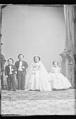 view Strattons, G.W.M. Nutt and Minnie Warren (wedding party) digital asset number 1