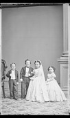 view Strattons, G.W.M. Nutt and Minnie Warren (wedding party) digital asset number 1
