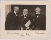 view Warren G. Harding, Robert Todd Lincoln and Joseph Gurney Cannon digital asset number 1