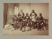 view Frank Hamilton Cushing with Laiyuahtsailunkya, Naiyutchi, Palowahtiwa, Kiasiwa, and Nanake digital asset number 1