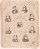 view President James Buchanan and his cabinet digital asset number 1