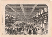 view The Ball in Honor of President Lincoln in the Great Hall at the Patent Office in Washington digital asset number 1