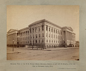 view Exterior View of the U.S. Patent Office Building, Corner of 9th and G Streets, After the Fire of September 24th, 1877 digital asset number 1