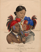 view Osage Indians: Mohongo, Washingsabba (or Black Bird), and Big Soldier digital asset number 1