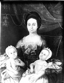 view Portrait of Elizabeth Gay Bolling (Mrs.Thomas Bolling)(1738-1813) and Her Twin Daughters, Sarah and Ann (both, 1772-1773) digital asset number 1