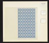 view 5m on 1pi Palestine Blue overprint block of seventy digital asset number 1