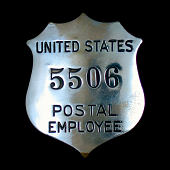 view Postal employee chest badge, number 5506 digital asset number 1