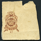 view 1p Stamp Act of 1765 proof digital asset number 1