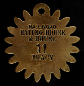 view Railroad Eating House & Hotel Owney tag digital asset number 1