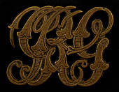 view Owney tag with entwined letters digital asset number 1