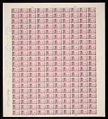 "view 3c Wisconsin Tercentenary original ""Farley's Follies"" uncut press sheet of 200 digital asset number 1"