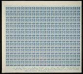 "view 5c National Parks Yellowstone original ""Farley's Follies"" uncut press sheet digital asset number 1"