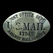 view RMS clerk chest badge, number 17542 digital asset number 1