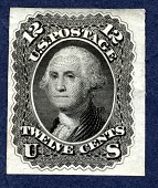 view 12c Washington plate proof single digital asset number 1