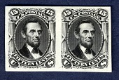 view 15c Lincoln plate proof pair digital asset number 1