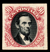 view 90c Lincoln plate proof single digital asset number 1
