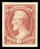 view 6c Lincoln plate proof single digital asset number 1