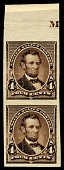 view 4c Abraham Lincoln proof vertical pair digital asset number 1