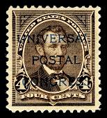 view 4c Abraham Lincoln Universal Postal Congress overprint single digital asset number 1