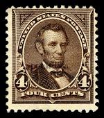 view 4c Abraham Lincoln Specimen overprint single digital asset number 1