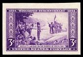 view 3c Wisconsin Tercentenary Farley special printing imperforate single digital asset number 1