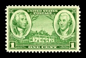 view 1c Army Washington and Nathanael Greene single digital asset number 1