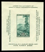 view 10c Society of Philatelic Americans Great Smoky Mountains souvenir sheet digital asset number 1