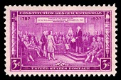"""view 3c Constitution Sesquicentennial """"Adoption of the Constitution"""" single digital asset number 1"""