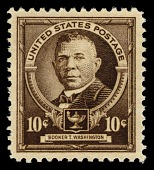 view 10c dark brown Booker T. Washington single digital asset number 1