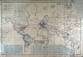 view World map with airmail routes digital asset number 1