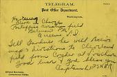 view Telegram to Harry Hartung, September, 1918 digital asset number 1