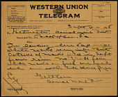 view Telegram to Postmaster Lock Haven , Sept. 4, 1918 digital asset number 1